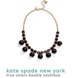 NEW‼️Kate Spade True Colors Bauble Necklace -Black